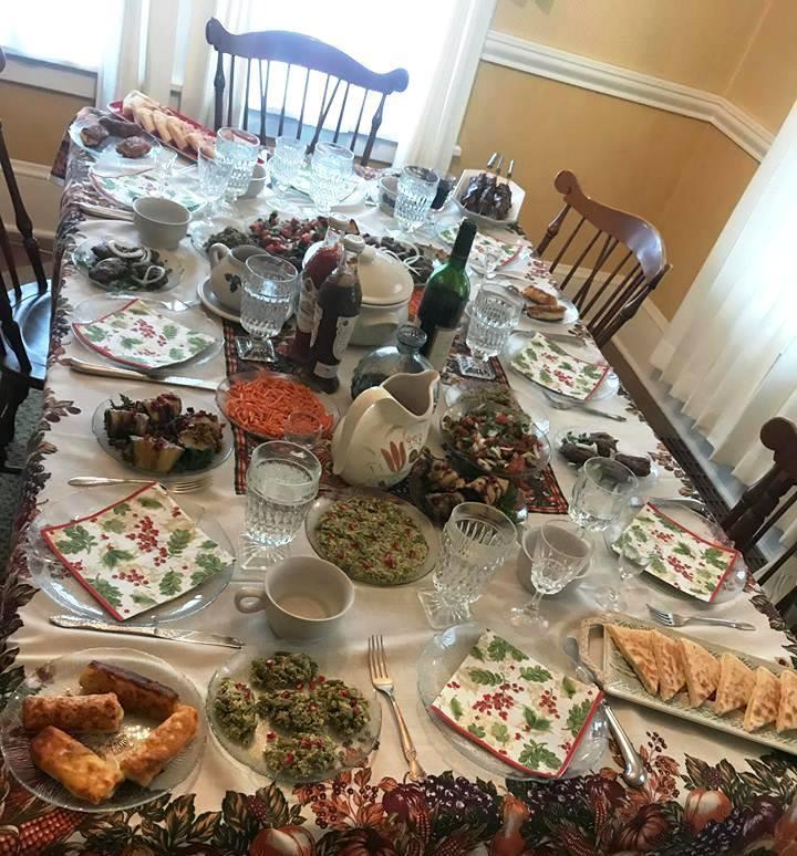 میز غذا در گرجستان