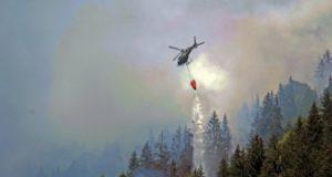 مهار آتش سوزی در جنگل های منطقه سوانتی پس از چهار روز