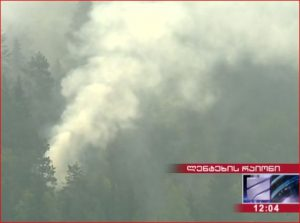 آتش سوزی در جنگل های سوانتی گرجستان و بسیج نیروهای اضافی