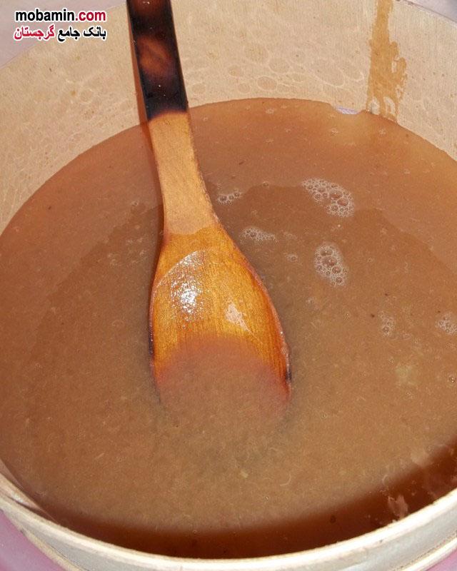 طرز تهیه ی باداگی نوعی شیره از گرجستان