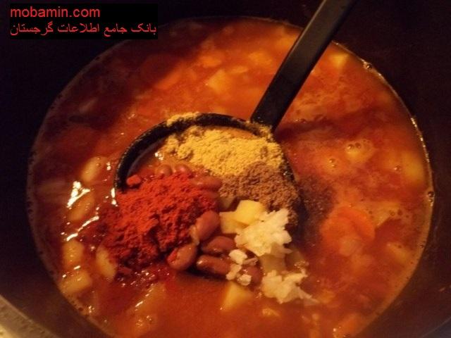 """طرز تهیه ی """"سوپ لوبیا"""" غذای گرجستانی"""