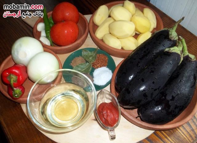 مواد لازم برای تهیه غذای گرجستان