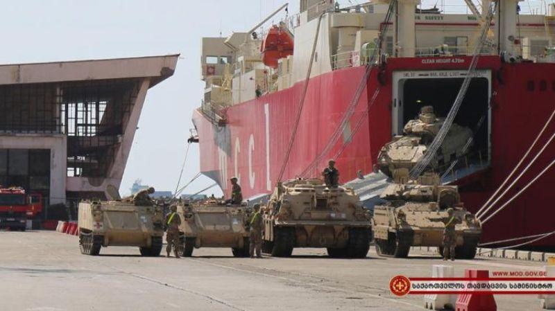 ورود تجهیزات نظامی برای تمرینات ناتو به گرجستان توسط آمریکا