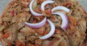 طرز تهیه ی خوراک جگر مرغ از غذا های گرجستان