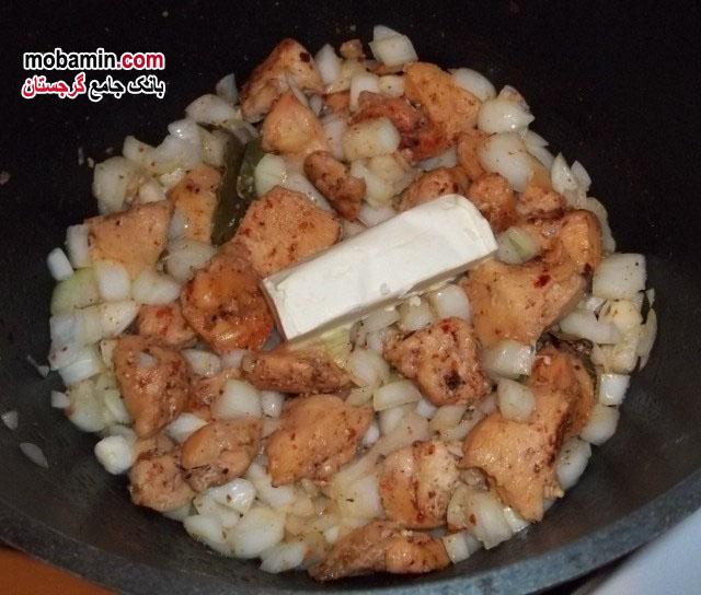 طرز تهیه ی چاخوخبیلی از غذا های سنتی گرجستان