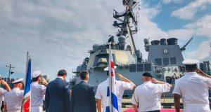 ناو نظامی آمریکا در بندر باتومی گرجستان مستقر می شود