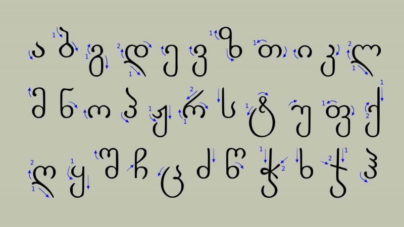 خط و زبان گرجی