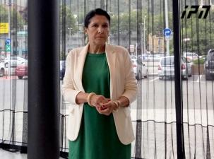 امیدواری سالومه زوراباشویلی به حمایت حزب حاکم رویای گرجستان