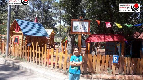 محل بازی کودکان در دیاچه تفلیس